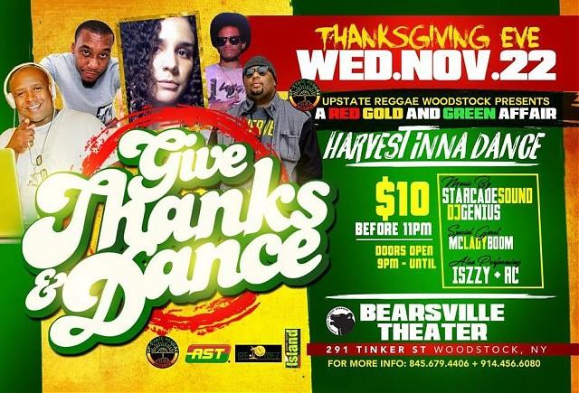 Upstate Reggae Presents: Give Thanks & Dance