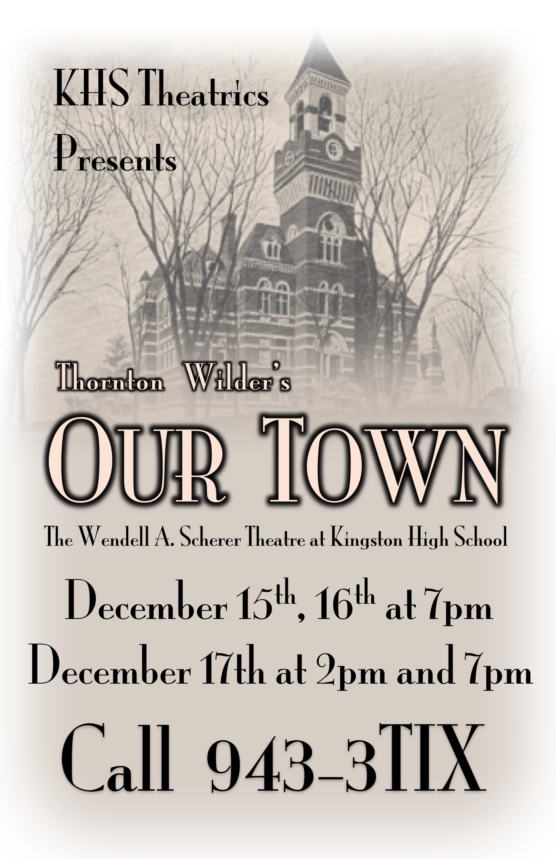 KHS Theatrics: Our Town
