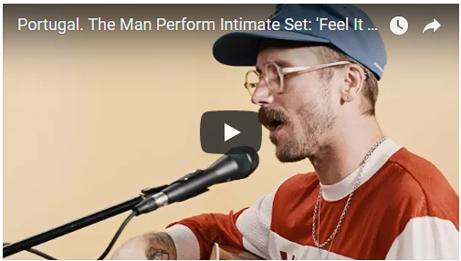 """VIDEO: Portugal. The Man perform """"Feel It Still,"""" """"Live in the Moment"""" for Rolling Stone"""