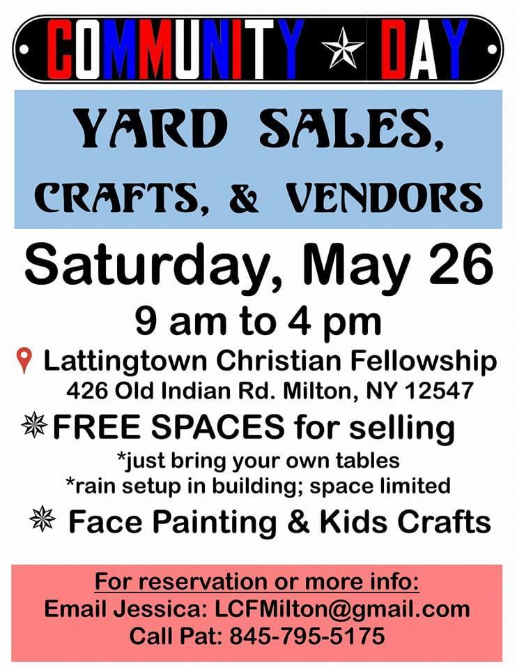 Community Day & Yard Sales