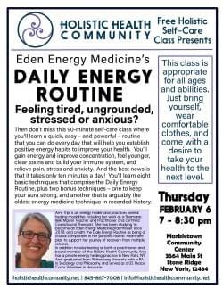 Daily Energy Routine -Eden Energy