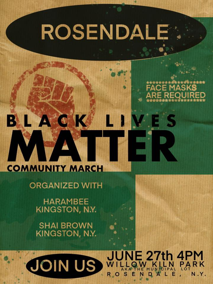 BLACK LIVES MATTER Rosendale March
