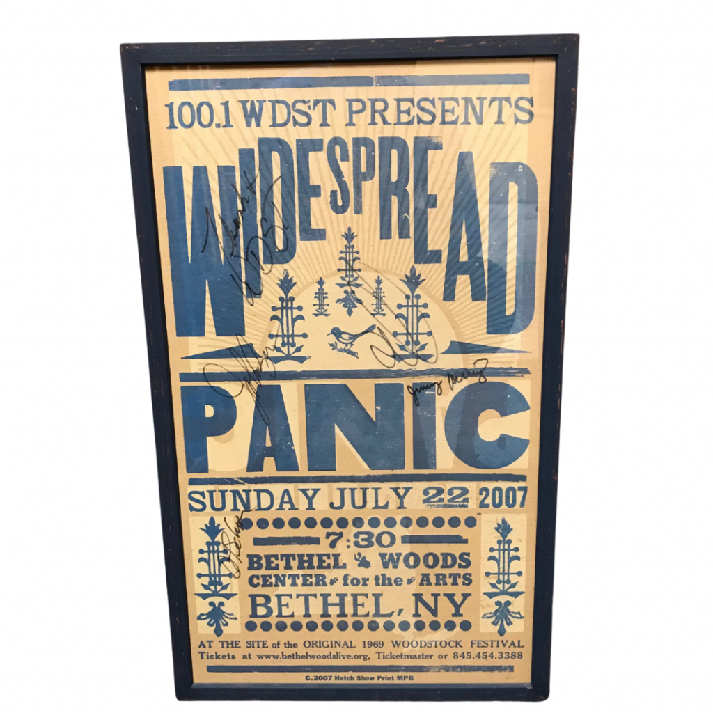 Widespread Panic signed Bethel Woods 2007