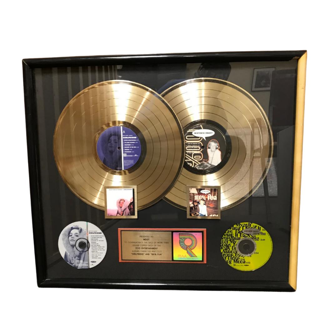 Matthew Sweet Girlfriend RIAA Gold Record