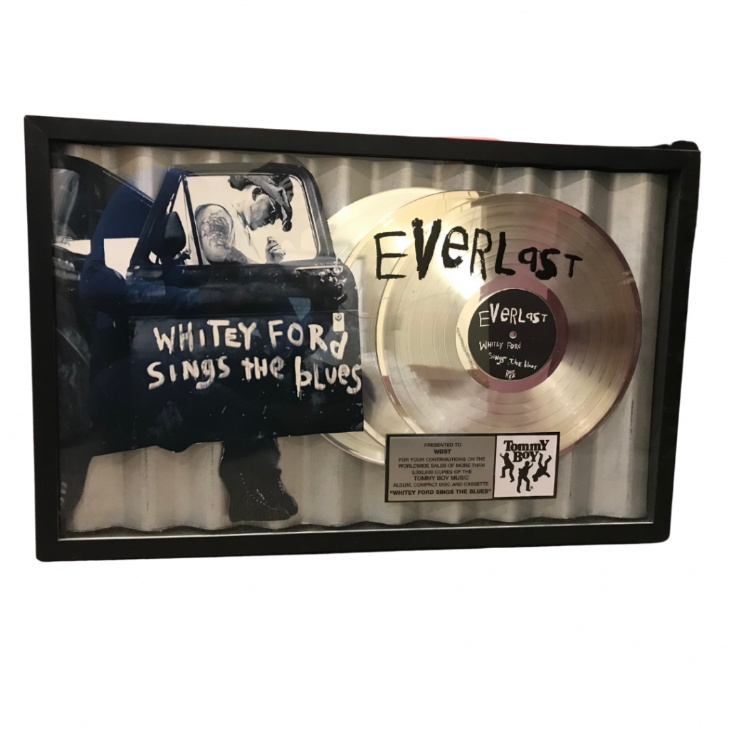 Everlast Whitey Ford RIAA gold record