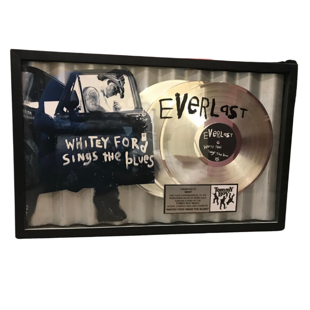 Everlast Whitey Ford RIAA gold record
