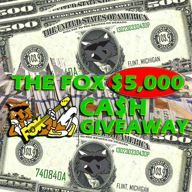 THE FOX $5,000 CASH GIVEAWAY