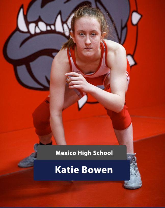 Mexico High School Wrestler Katie Bowen Competing at Missouri Border Brawl