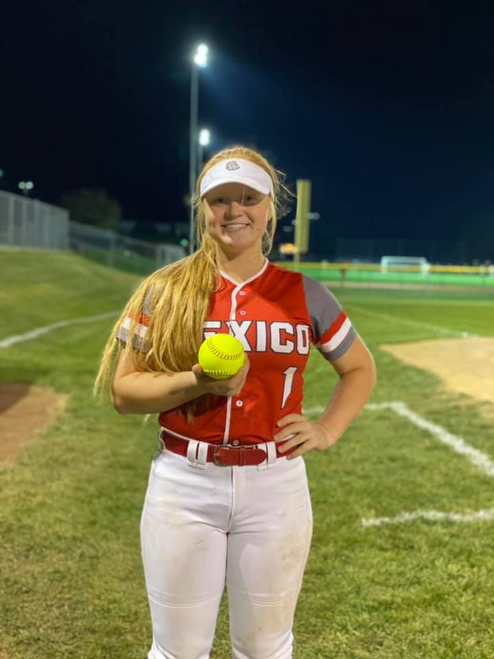 Mexico High School Softball Star Abby Bellamy Named to All-Region Team