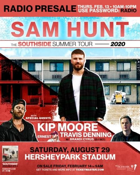 Sam Hunt – The Southside Summer Tour 2020