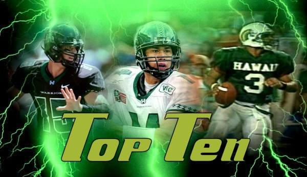 Top 10 QBs in UH History
