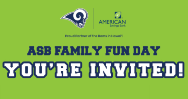 ASB Family Fun Day with the LA Rams & i9 Sports Association