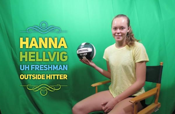 UH Freshman Sensation Hanna Hellvig