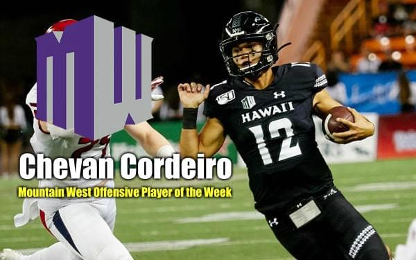 Cordeiro Wins MW Offensive Player of the Week