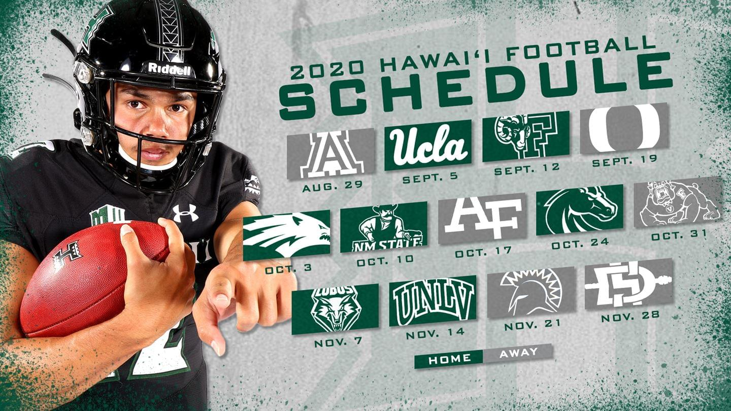 2020 Hawai'i Football Schedule