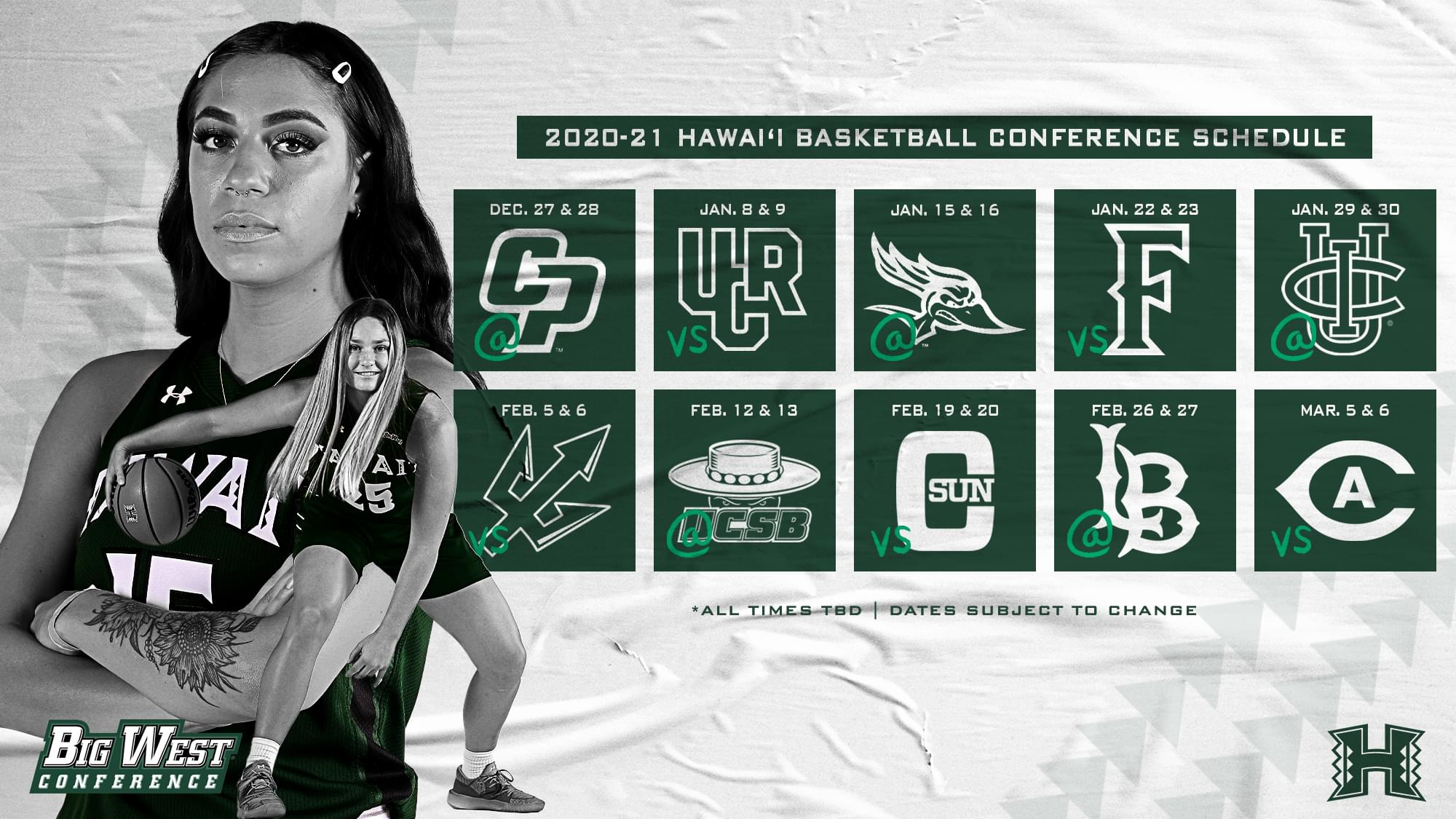Rainbow Wahine Basketball Schedule Release