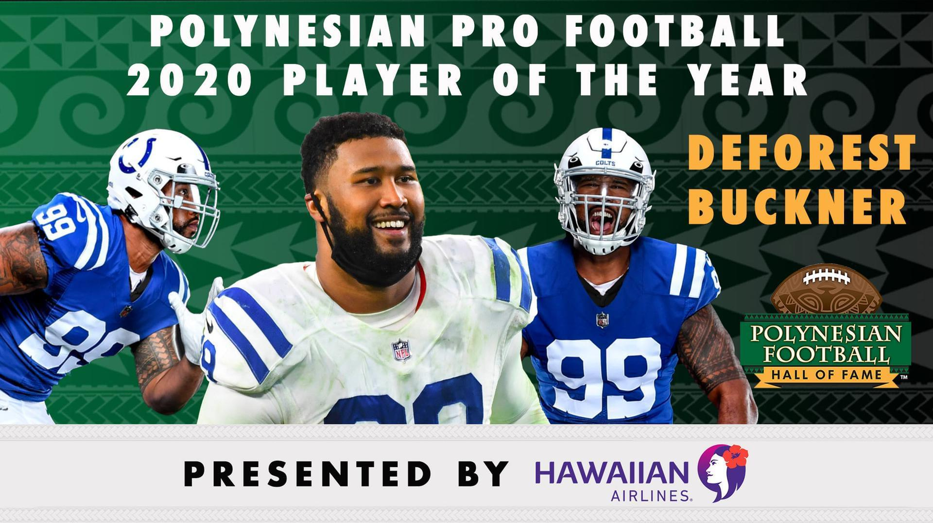 Buckner selected as 2020 Polynesian Pro Football Player of the Year