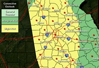 Rain, possibly severe storms in the forecast