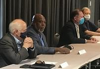 City and county leaders discuss rising COVID-19 cases, masks in public