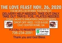 Thanksgiving Love Feast this Thursday