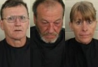 Three arrested on drug trafficking charges