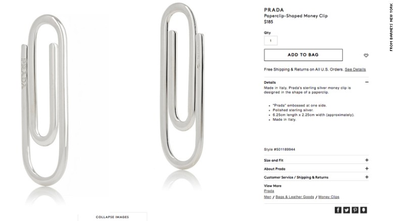 Do You Know How Many Prada Paperclips I Could Buy For $185?