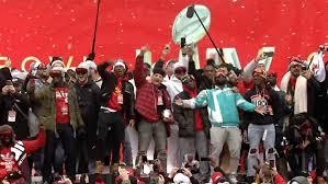 KANSAS CITY CHIEFS: Celebrate Their Win
