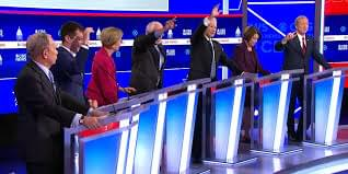 DEMOCRATIC DEBATE: Candidates Talk Over Each Other