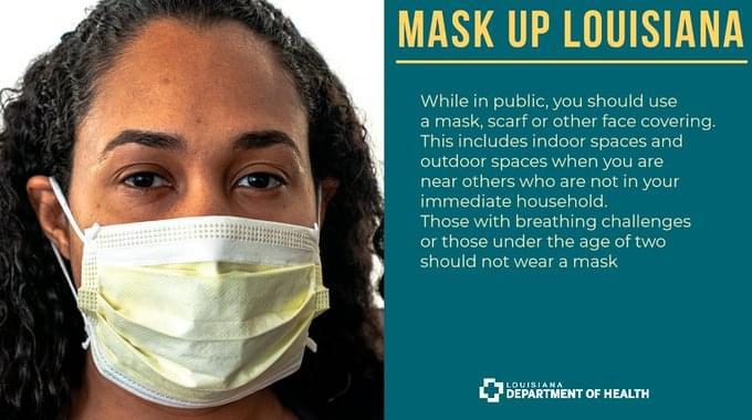 Mask up, Louisiana!
