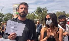 BEN AFFLECK: Joins BLM Protest with Girlfriend