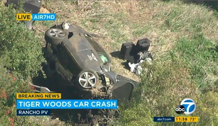 Tiger Woods car accident – latest: Golfer 'fortunate' to survive after crashing luxury Genesis SUV, police say – OLD