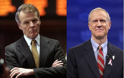 Michael Madigan and Bruce Rauner