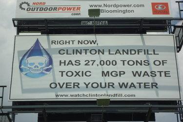 Clinton Landfill Billboard