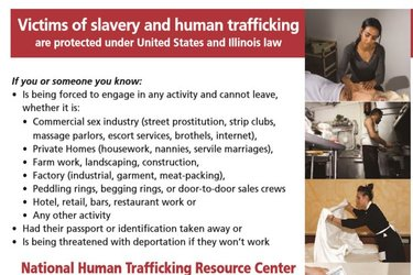 Human trafficking notice
