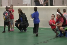 Little Hoopsters basketball camp at the DISC (Video)