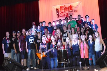 First Gig Rock N' Roll camp group photo