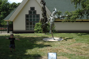 Scovill Sculpture Park community walk