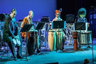 Millikin percussion ensemble halloween concert