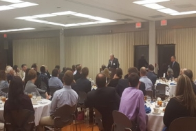 Oberto talks determination at the Science Entrepreneurship Speaker Series