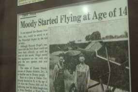 Aviation exhibit at the Macon County History Museum (Video)