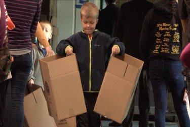 Judy Mason Thanksgiving packing