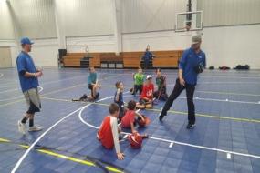 MU baseball team teaches local boys the basics