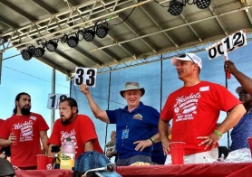 Returning Champ Sets Another Record in the Heinkel's Hot Dog Eating Contest