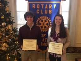 St. T's Caceres, McNamara Named Rotary Athletes of Month