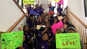 WATCH: Robertson Charter School Gives Out Free Hugs To Celebrate Charter School Week