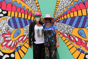 Famed Artist Creates Wings Mural In Decatur – Gift From Community Foundation