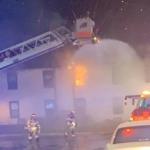 No Injuries As Flames Hit Danville Apartment Building