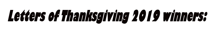 Letters of Thanksgiving