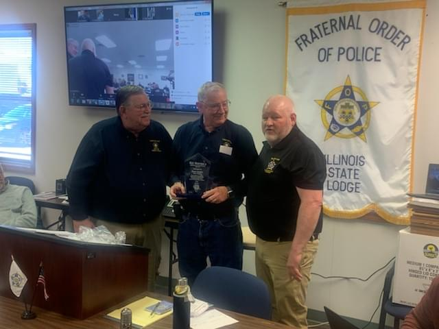 Jefferson County Law Enforcement Chaplain Receives Lifetime Achievement Award from Illinois Fraternal Order of Police