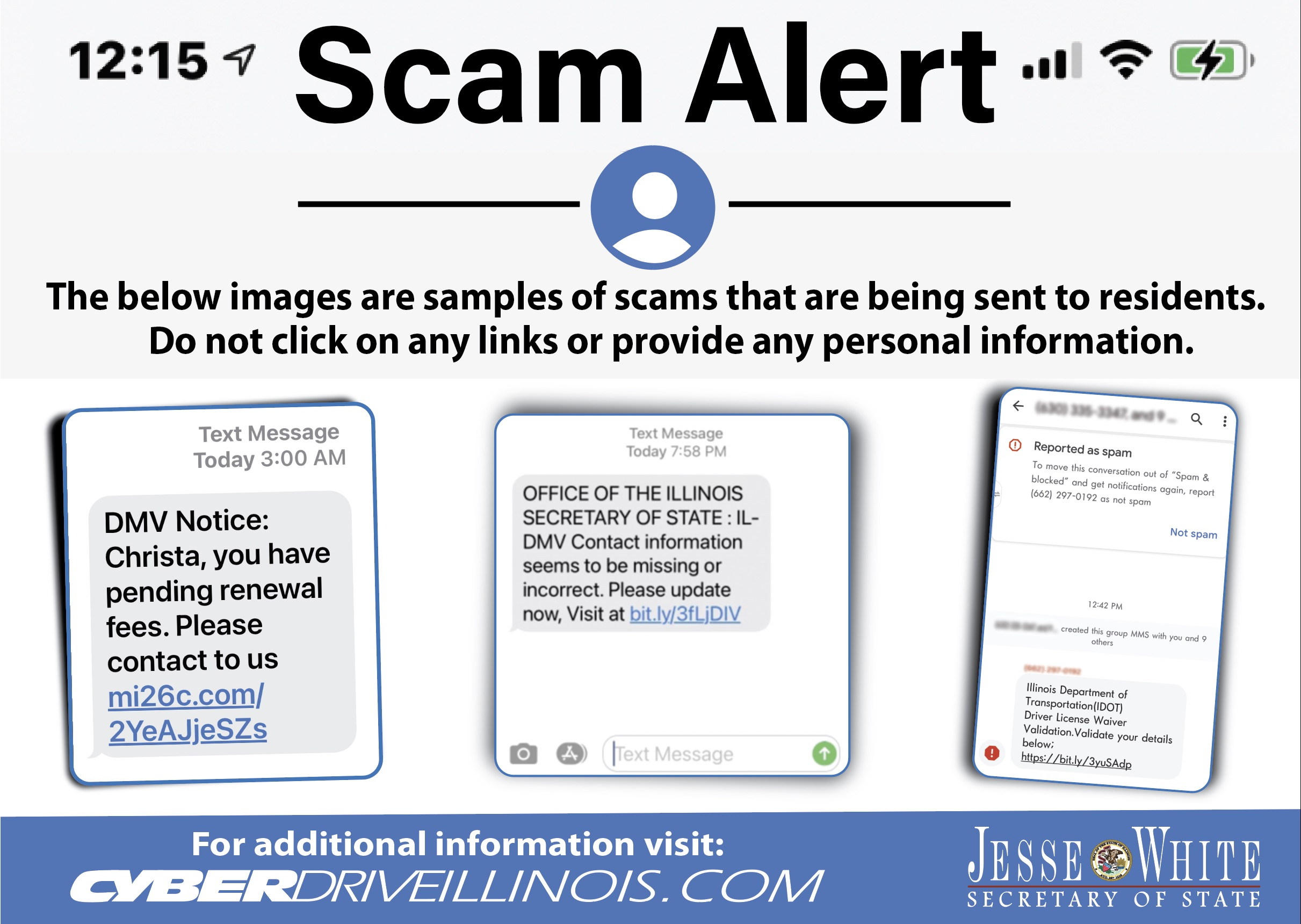 SOS office warning of txt and email scams